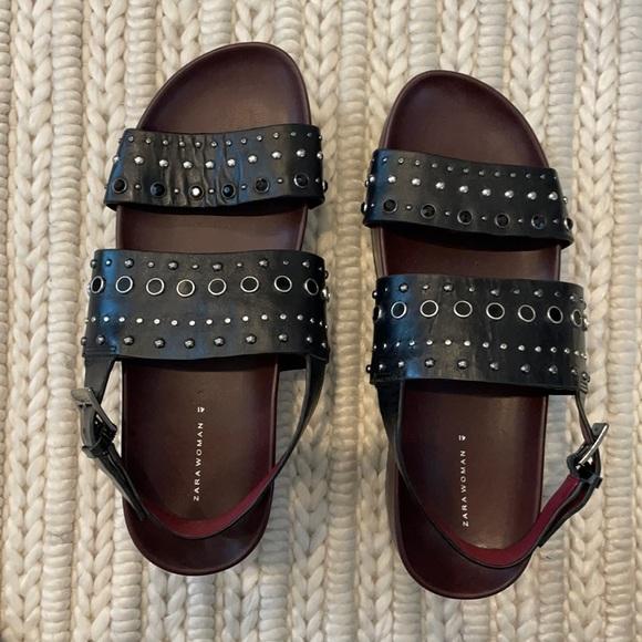 Platform Zara Sandals with Studding Detail